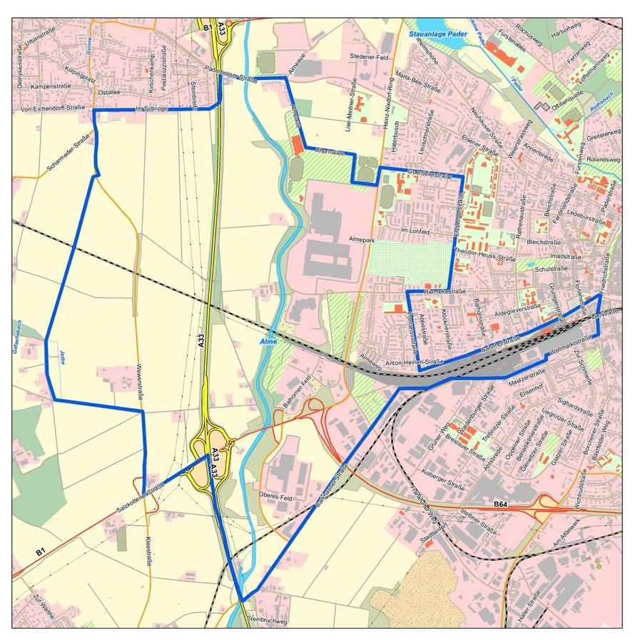 Karte Paderborn.Zweiter Fall Von Amerikanischer Faulbrut Bei Bienen In Paderborn