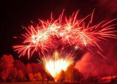 Feuerwerk-Wettbewerb zum Abschluss des Frankenberger Stadt-Jubiläums